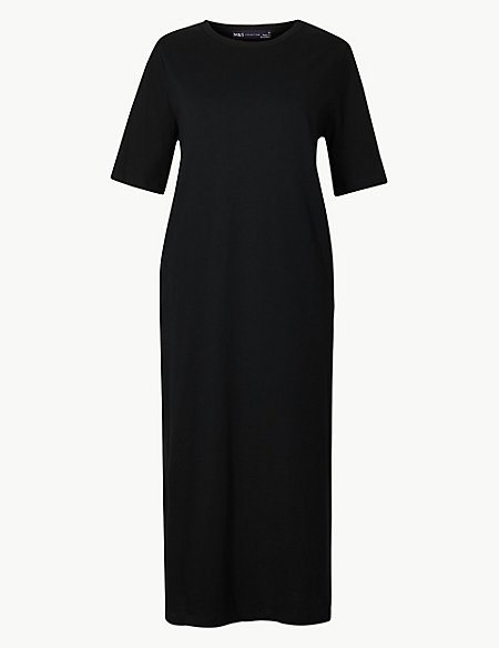 Pure Cotton T-Shirt Midi Dress