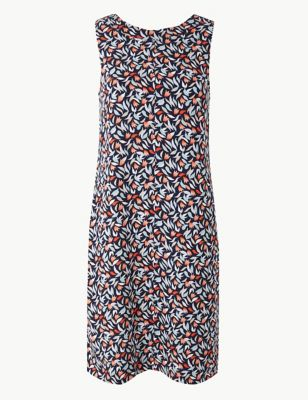 69a60dff1c Linen Rich Printed Shift Dress £25.00