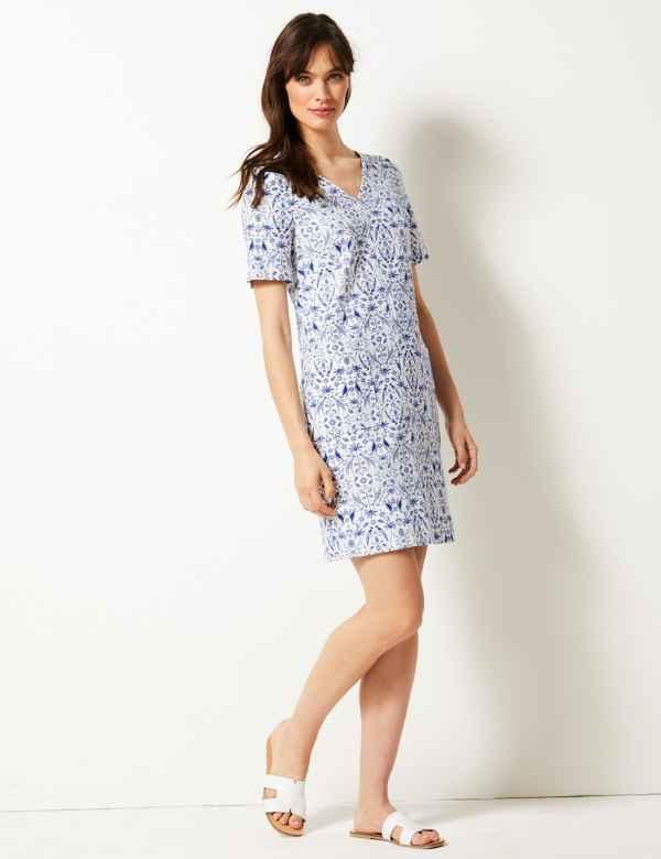 1ea4f29489 Printed Shift Dress