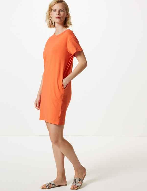 989846615f69 Pure Cotton T-Shirt Dress
