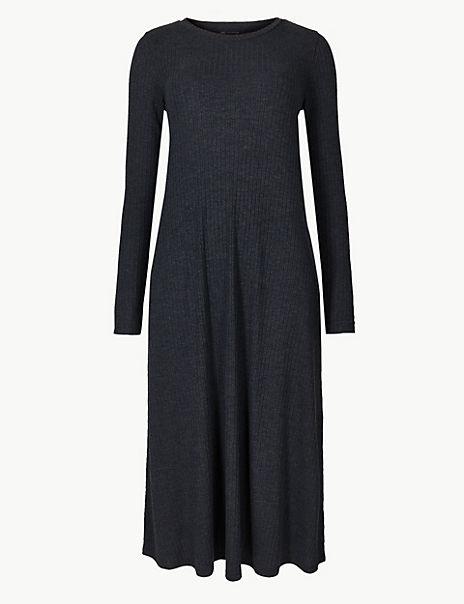 Jersey Swing Midi Dress