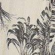 Leaf Print Waisted Midi Dress, IVORY MIX, swatch