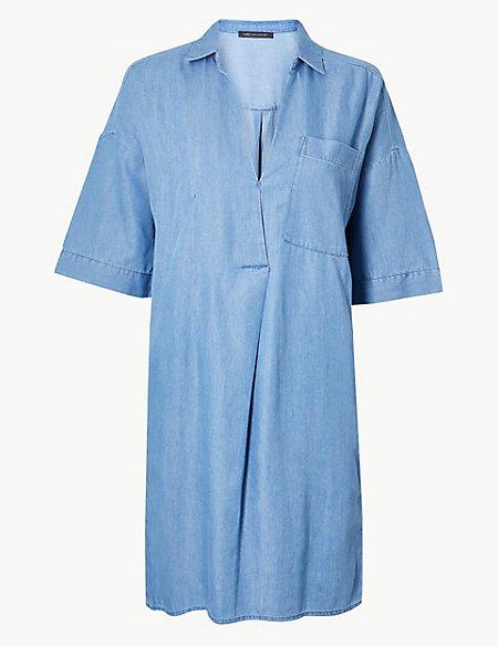 Patch Pocket Shift Dress