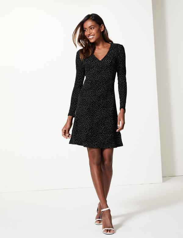 1866795f1f7ab Polka Dot Fit & Flare Dress
