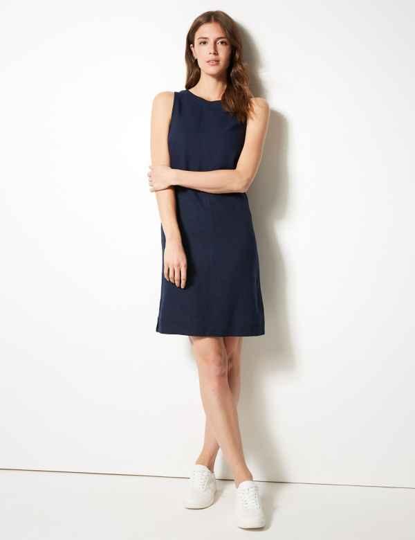 933f4476eb53 Fuller Bust Linen Rich Shift Dress