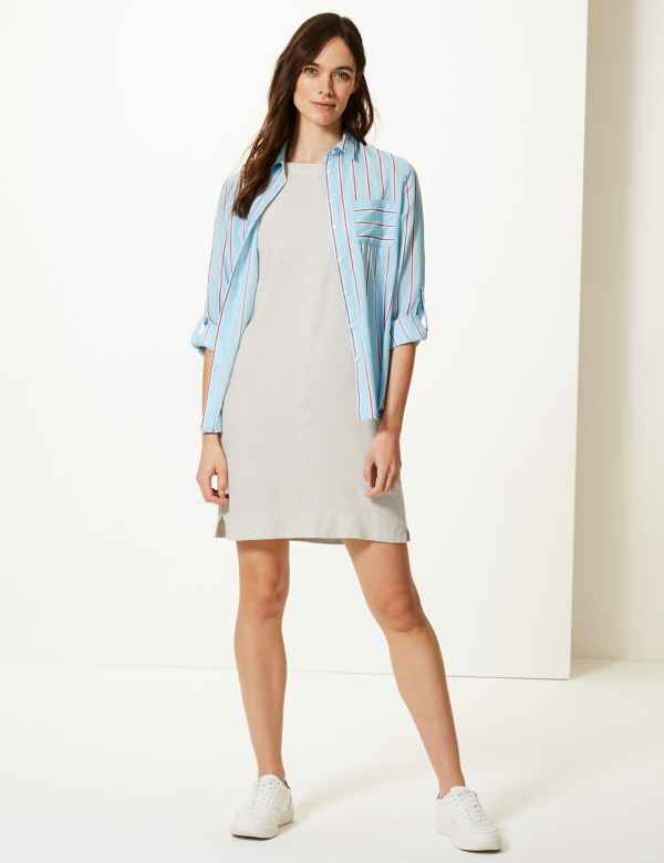 78166c854c7 Linen Rich Shift Dress