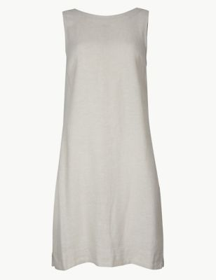 7898bc64e9 Linen Rich Shift Dress £25.00