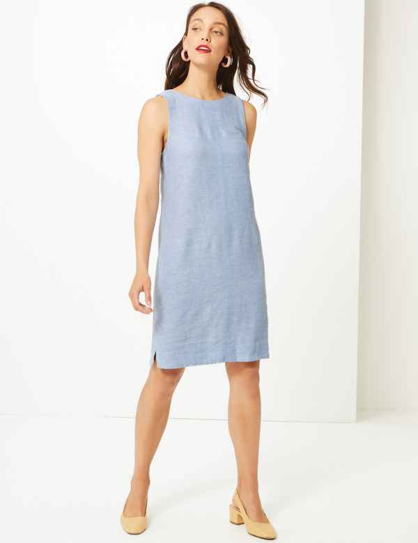 0ab760420f1 Fuller Bust Linen Rich Shift Dress