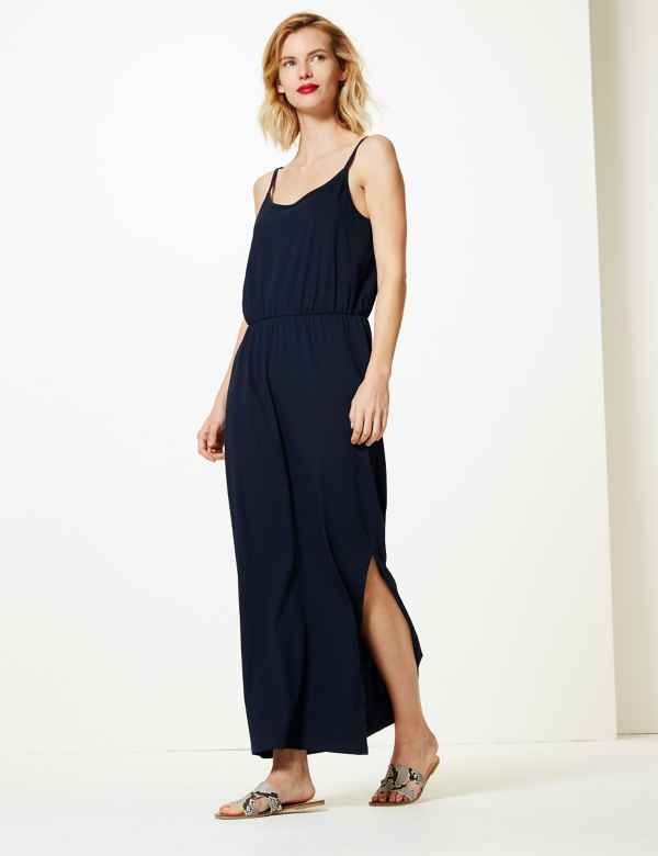 09a2f30272 Pure Cotton Waisted Maxi Dress
