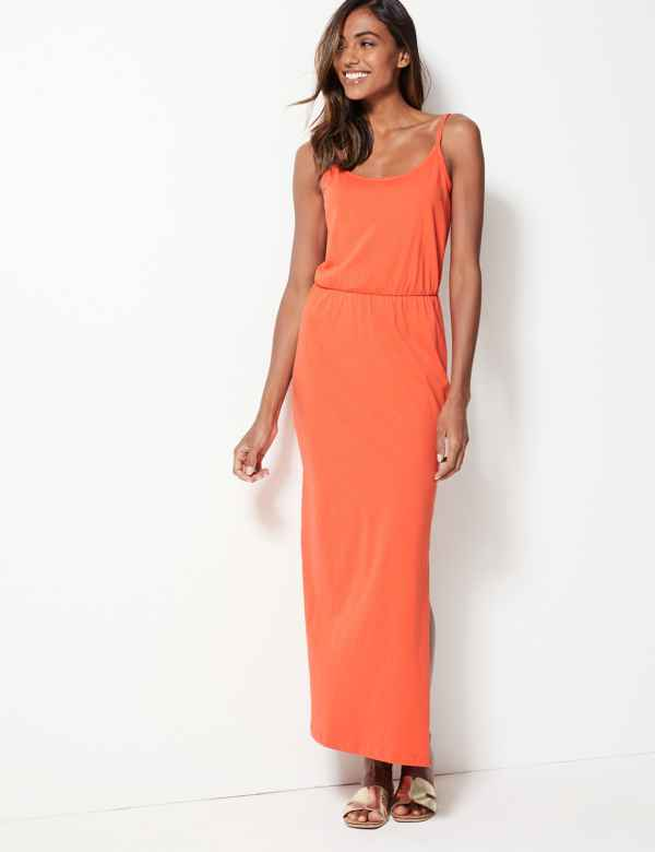 37add8a5f4a9 Pure Cotton Waisted Maxi Dress