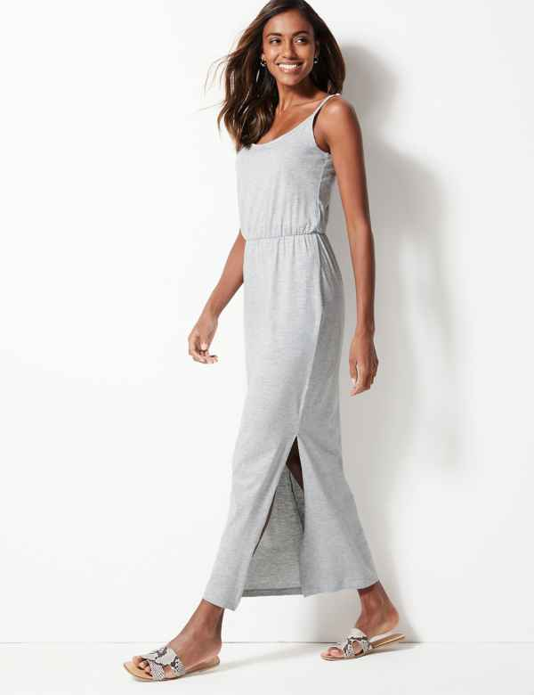 0d9339f790 Pure Cotton Waisted Maxi Dress