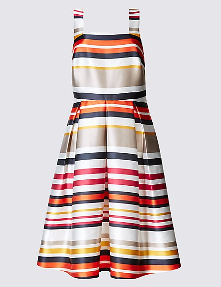 Striped Prom Skater Dress