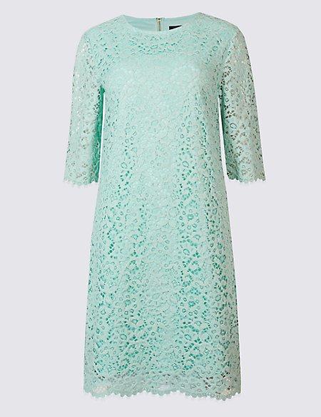 Cotton Rich Lace Layered Swing Dress