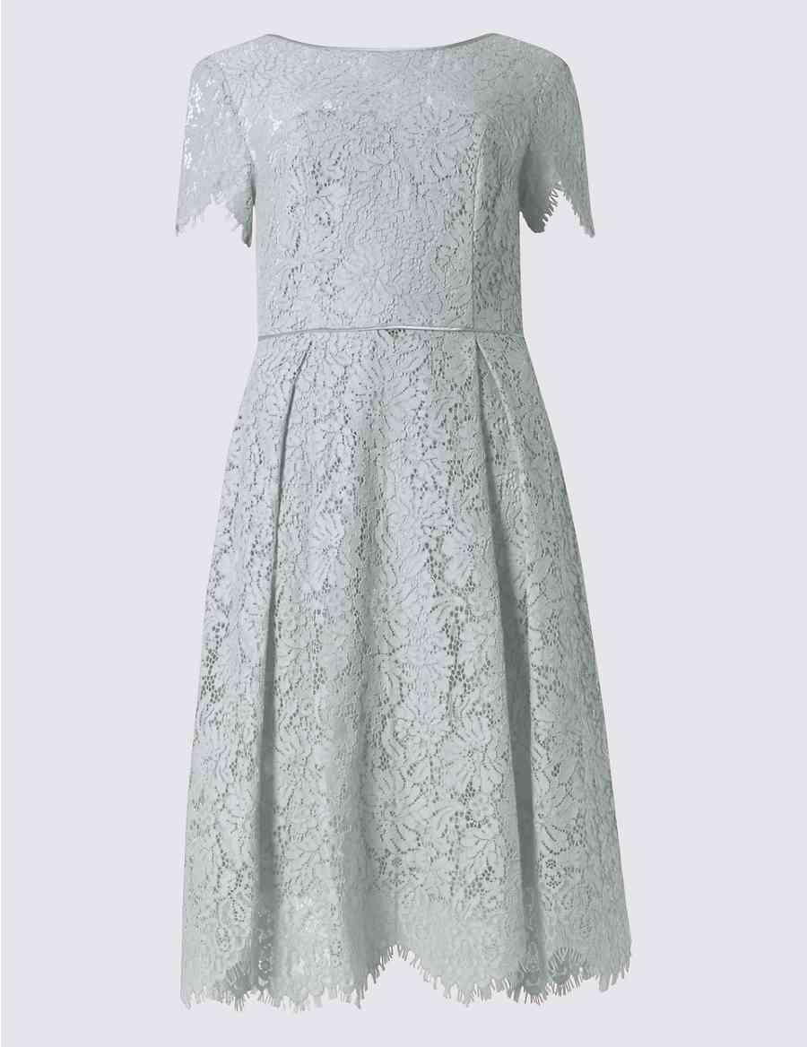 7e28c1d60066 Cotton Blend Lace Swing Dress