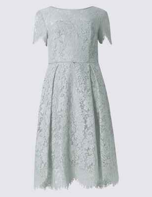 Cotton Blend Lace Swing Dress Ms Collection Ms