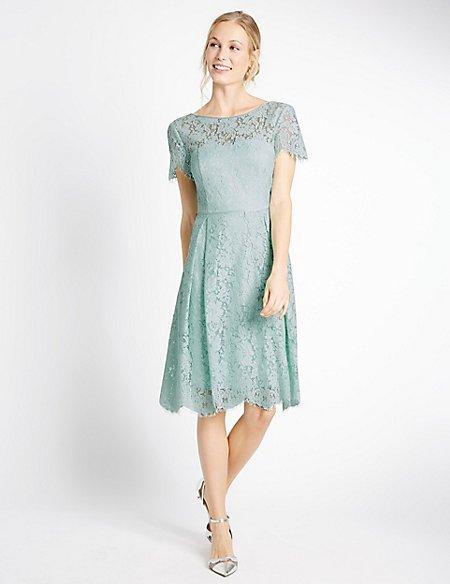 Cotton Blend Lace Swing Dress | M&S Collection | M&S