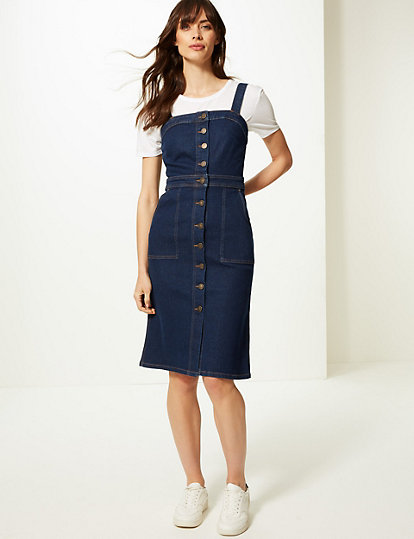 e466242547d90e Dames · Jurken   Jurkjes  Midi-bodycon-jurk met knoopdetail. image