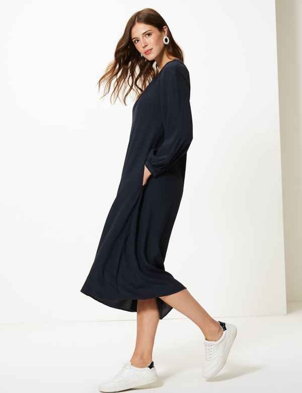 Gather Relaxed Midi Dress b4e2ddf7f
