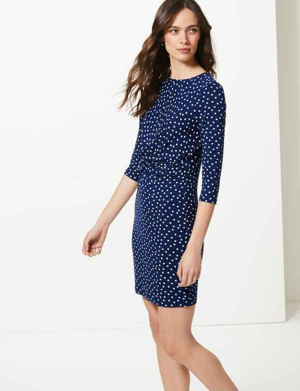 1cbf577f898 Polka Dot Jersey Bodycon Mini Dress
