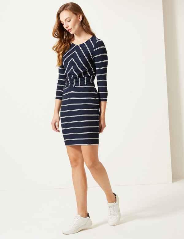 f37857e577 Striped Jersey Bodycon Mini Dress