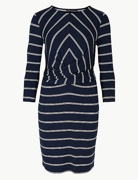 Striped Jersey Bodycon Mini Dress