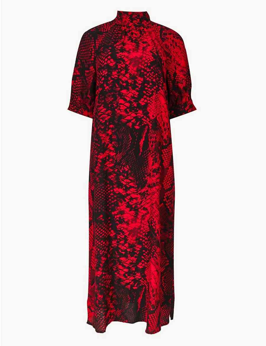 110d22e80a Animal Print Shift Midi Dress