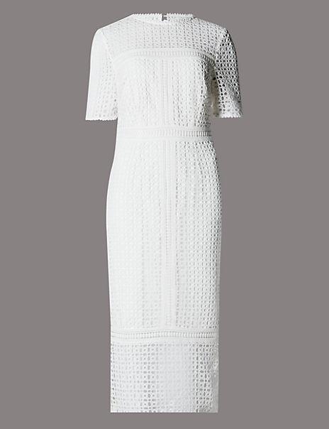 Pure Cotton Cutwork Shift Dress