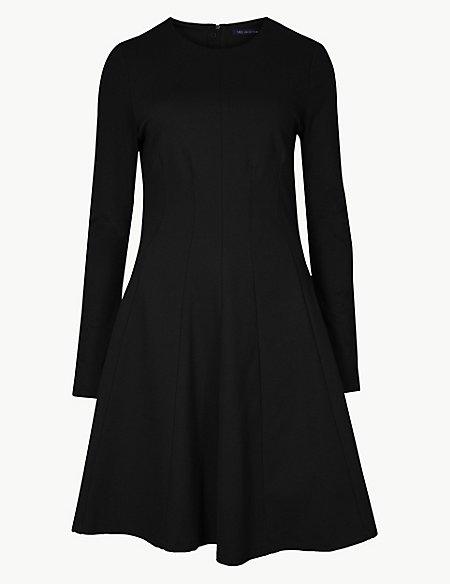 Dart Detail Mini Fit & Flare Dress