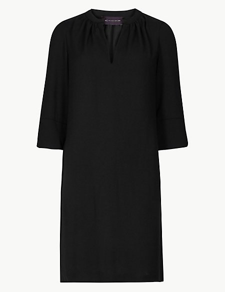 PETITE 3/4 Sleeve Shift Dress