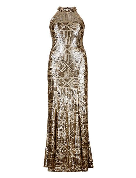 Sequin Embellished Maxi Dress ONLINE ONLY