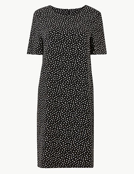 Spotted Shift Dress