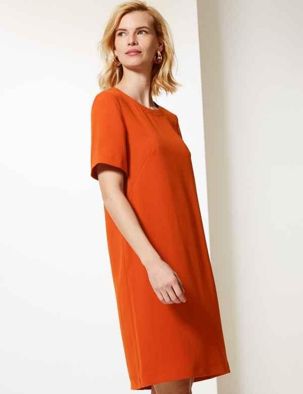 876f261c274 Short Sleeve Shift Dress