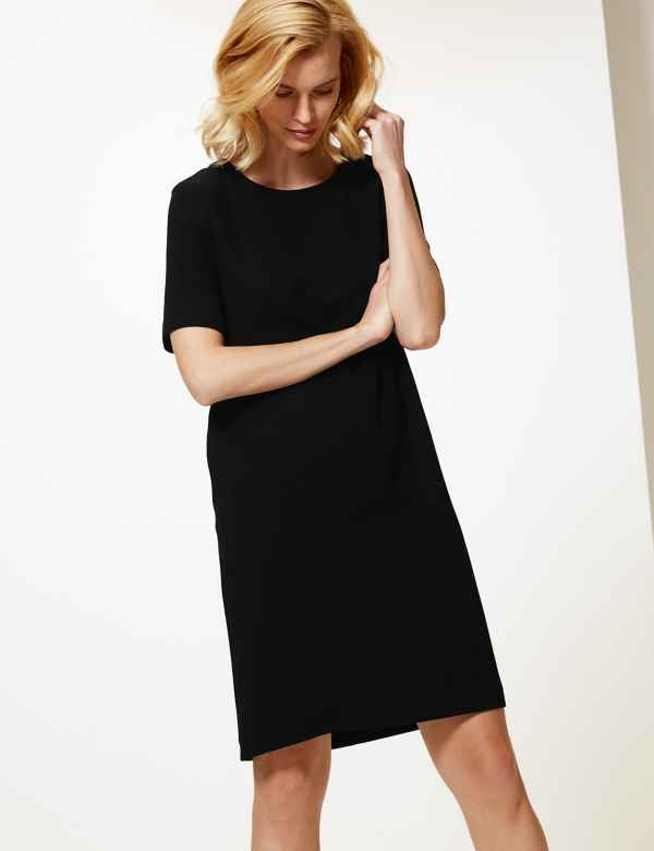 Short Sleeve Shift Dress e03ed6fce