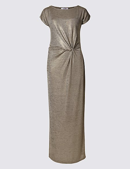 Shimmer Short Sleeve Maxi Dress