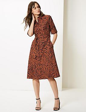 f5333e23be02 Robe style chemise 100 nbsp % coton à imprimé animal