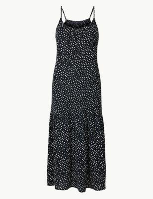 9070d20b20c0 Polka Dot Slip Midi Dress £22.50