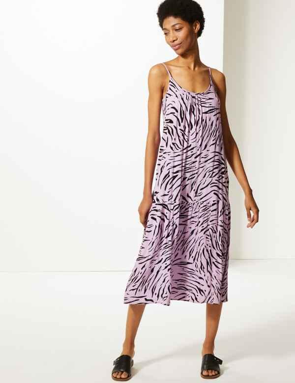 0968366e77838 Animal Print Slip Midi Dress