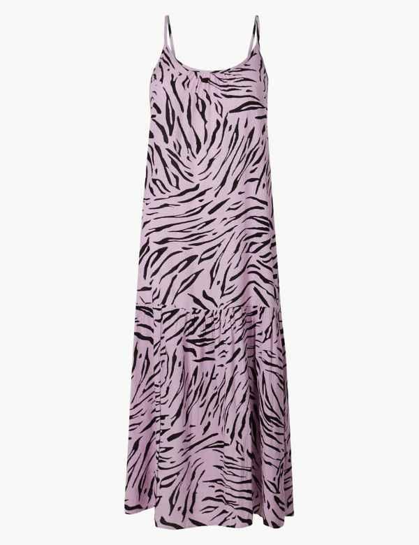 5cd89ad1c0bd Animal Print Slip Midi Dress   M&S Collection   M&S
