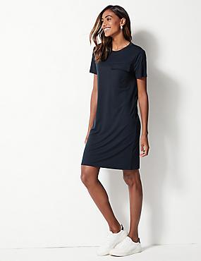 c1389ff276cd Pocket Front Mini T-Shirt Dress ...