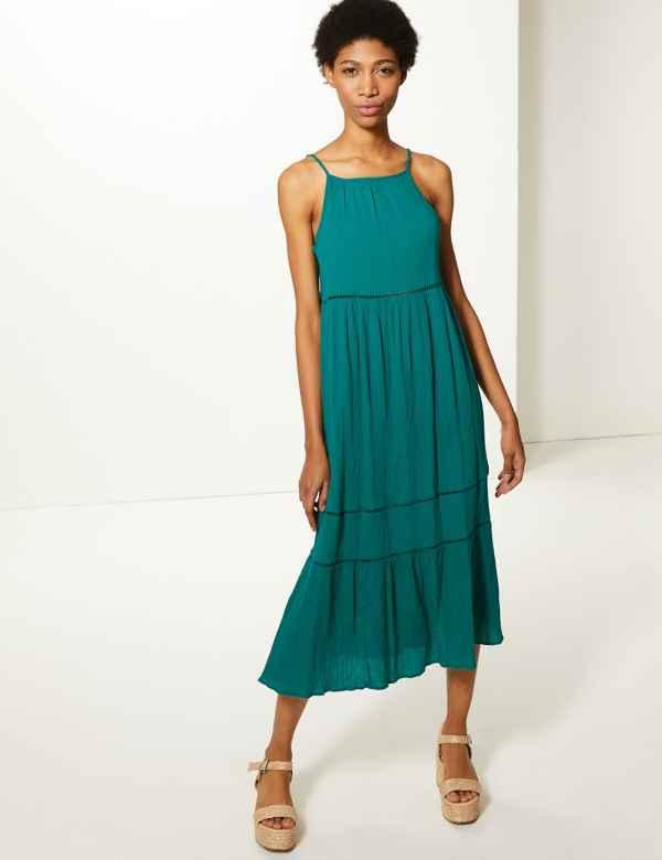 48621e4ee20 Pure Cotton Midi Slip Dress