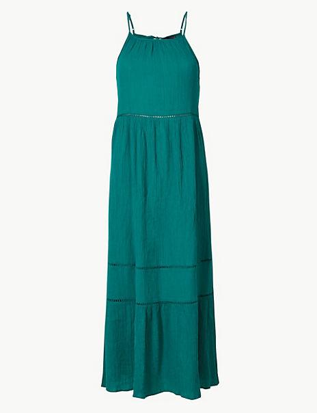 Pure Cotton Slip Midi Dress