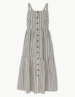 05f54732794 Pure Cotton Striped Midi Slip Dress £35.00