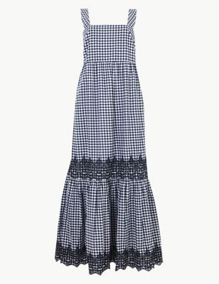 e45bff2d9c Pure Cotton Gingham Slip Maxi Dress £59.00