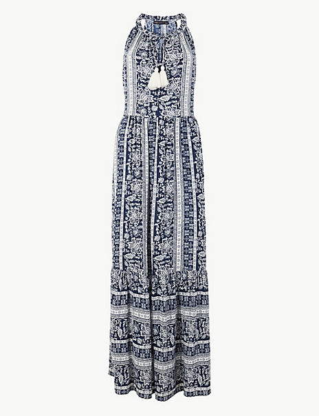 Printed Relaxed Maxi Dress
