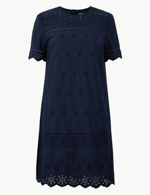 5ea2acb397 Pure Cotton Embroidered Shift Dress £39.50
