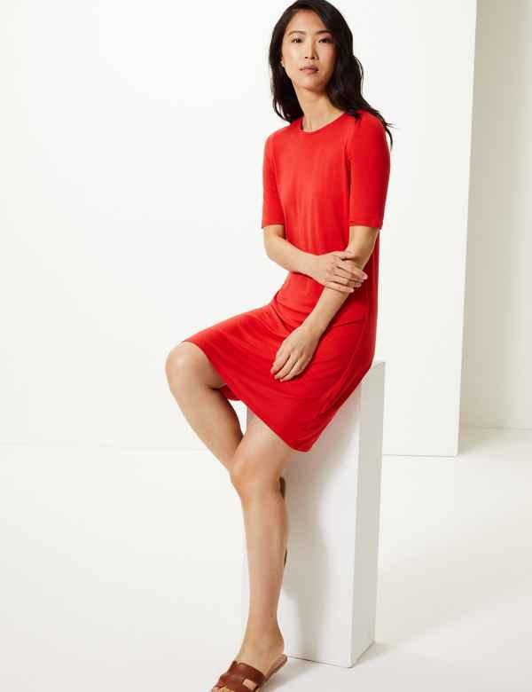 d8ede48f85 Swing Dresses   Bardot & Long Sleeve Swing Dress   M&S