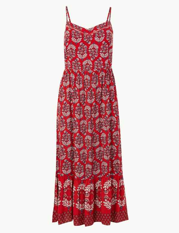 5c48675d087 Floral Print Midi Slip Dress. New