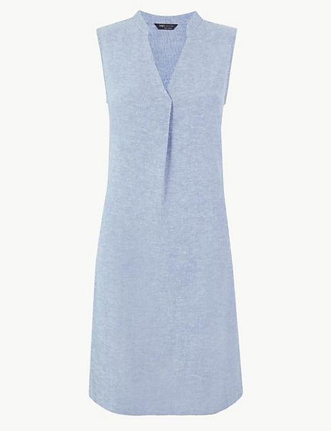 Linen Rich Shift Dress