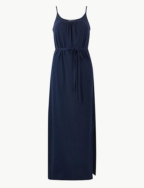 Pure Cotton Jersey Maxi Slip Dress