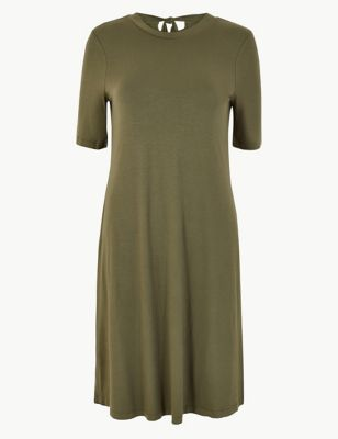 Tie Back Jersey Swing Dress by Marks & Spencer